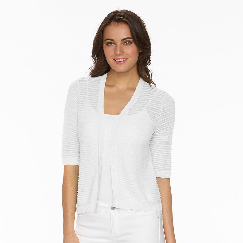 Women's AB Studio Striped Shrug
