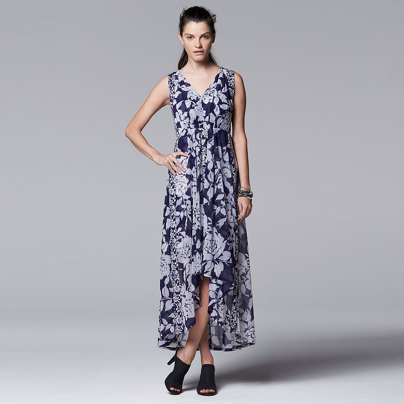 Women's Simply Vera Vera Wang Mixed-Media Maxi Dress