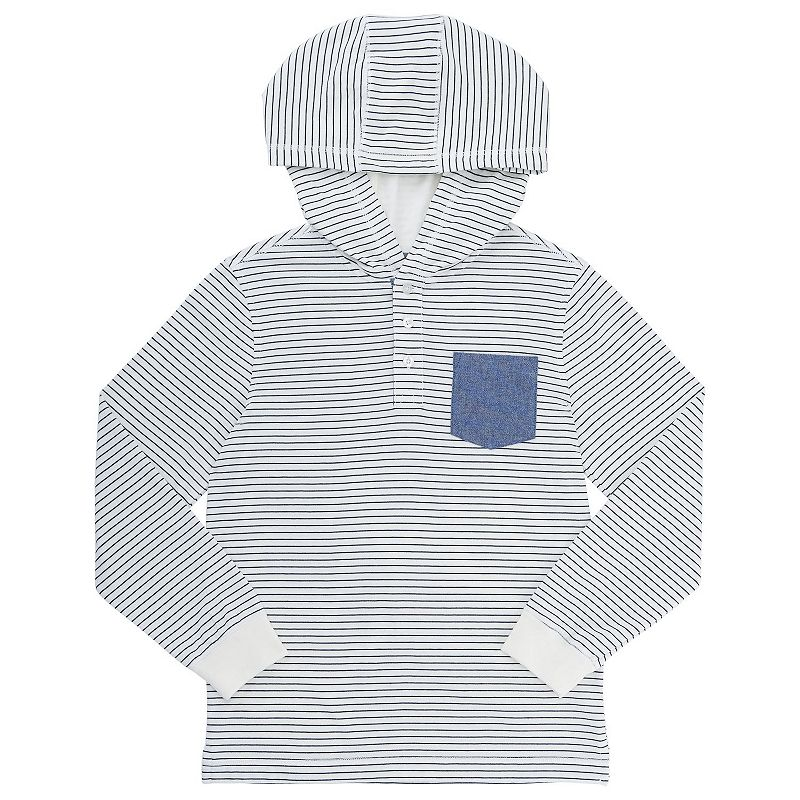 Boys 4-7 French Toast Hooded Pocket Henley, Boy's, Size: 5, Natural
