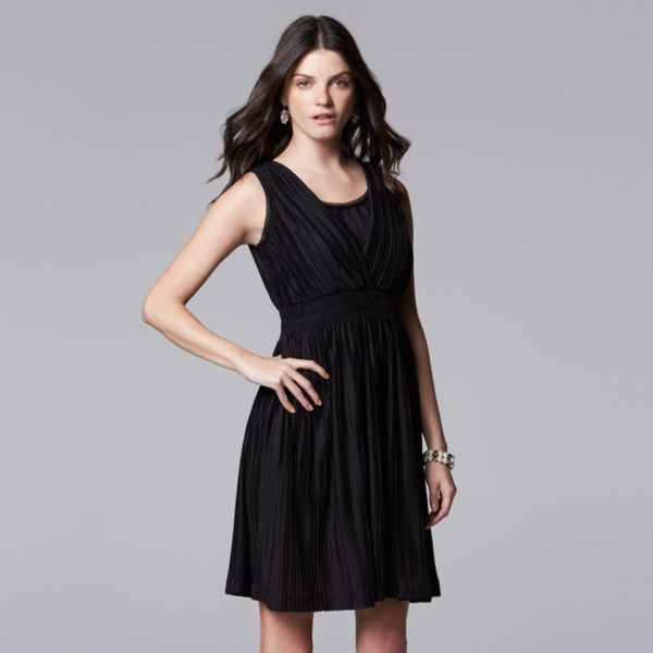 Women's Simply Vera Vera Wang Smocked Empire Dress