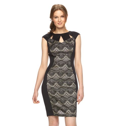 Women's Jax Lace Panel Sheath Dress