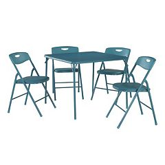 Cosco Folding Table & Plastic Backed Chair 5-piece Set by