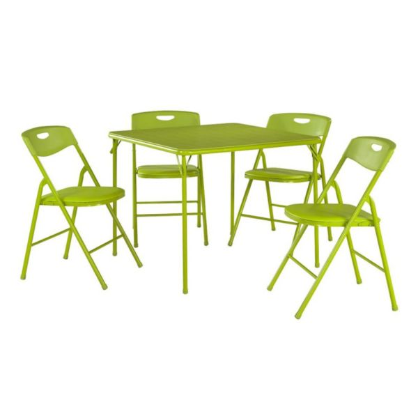 Cosco Folding Table & Plastic Backed Chair 5 piece Set
