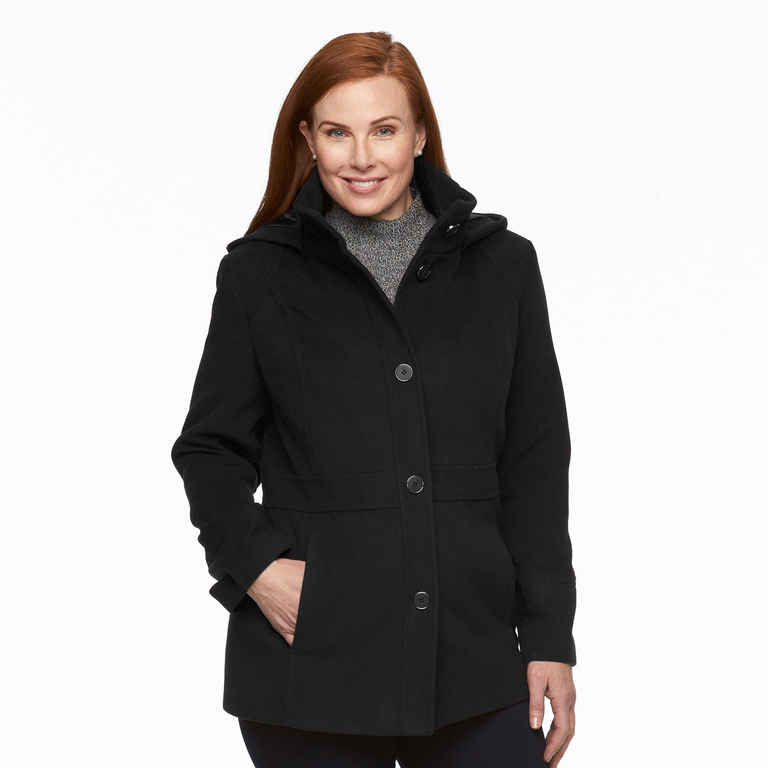 Hooded Pea Coats For Women 9OTFOP