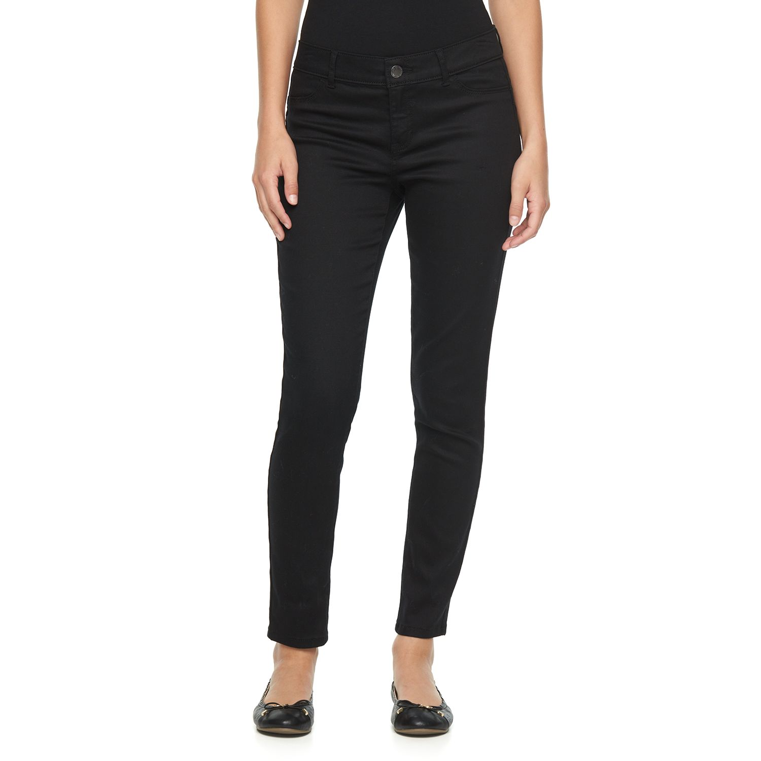 Womens Juicy Couture Black Flaunt It Skinny Jeans
