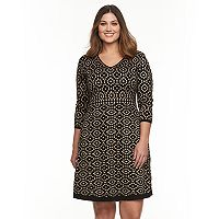 Plus Size Suite 7 Fit & Flare Sweaterdress