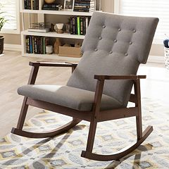 Baxton Studio Agatha Mid-Century Modern Rocking Chair by