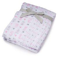 Baby Girl Just Born 2-pk. Print Muslin Blankets