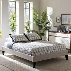 Baxton Studio Lancashire Upholstered King Bed Frame by
