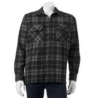 Men's Croft & Barrow® Classic-Fit Plaid Arctic Fleece Shirt Jacket