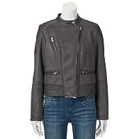 Juniors' Coffee Shop Asymmetrical Zip Jacket