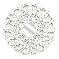 Fetco Home Decor White Laun Wall Mirror
