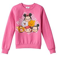 Disney's Tsum Tsum Girls 7-16 Chevron Pyramid Fleece-Lined Top