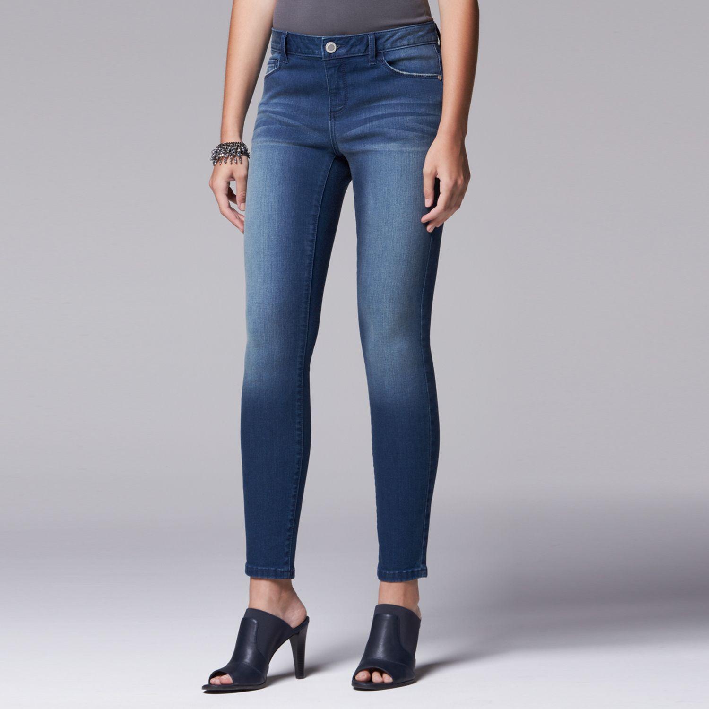 Womens Simply Vera Vera Wang Super Skinny Jeans