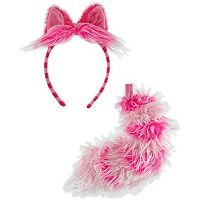 Adult Alice in Wonderland Cheshire Cat Costume Ears & Tail Set