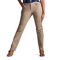 Petite Lee Essential Straight-Leg Chino Pants