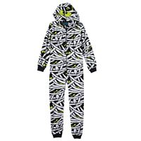 Boys 8-20 Jelli Fish Fleece Hooded Zip-Front Pajamas
