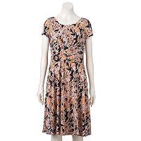 Women's Perceptions Paisley Fit & Flare Dress