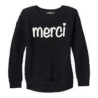 Girls 7-16 Sugar Rush Applique Graphic Sweater