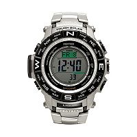 Casio Men's PRO TREK Triple Sensor Titanium Digital Atomic Solar Watch - PRW3500T-7CR