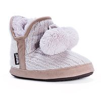 MUK LUKS Women's Pennley Sweater Bootie Slippers