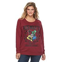 Juniors' Plus Size Harry Potter Hogwarts Crest Graphic Sweatshirt