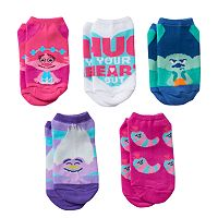 Girls 4-16 DreamWorks Trolls Poppy, Guy Diamond & Branch 5-pk. No-Show Socks