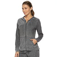 Women's bliss Vintage Wash Zip Up Jersey Hoodie