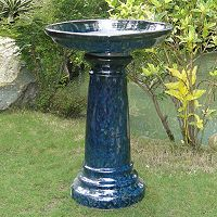 Smart Living Aviatra Ceramic Solar Birdbath