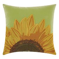 Mina Victory Sunflower Indoor / Outdoor Throw Pillow