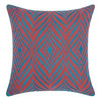 Mina Victory Wild Chevron Indoor / Outdoor Throw Pillow