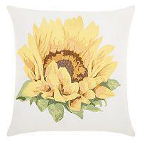 Kathy Ireland Sunflower Indoor / Outdoor Throw Pillow