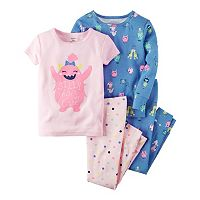 Girls 4-12 Carter's Printed Design Pajama Set
