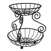 Spectrum Scroll 2-Tier Basket