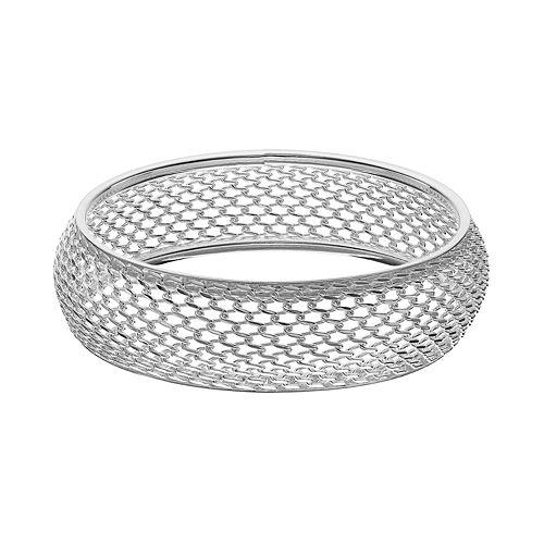 Mesh Bangle Bracelet, Women's, Grey