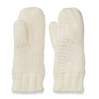 Women's SO® Solid Cable-Knit Mittens