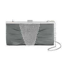 Gunne Sax by Jessica McClintock Laura Rhinestone Pleated Clutch