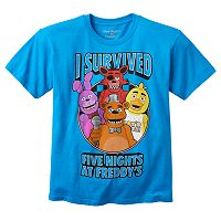 Boys 8-20 Five Nights At Freddy's I Survived Tee