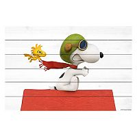 Peanuts Snoopy Flying Wood Wall Art by Marmont Hill