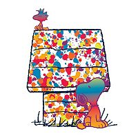 Peanuts Woodstock & Snoopy Rainbow Canvas Wall Art by Marmont Hill