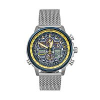 Citizen Eco-Drive Men's Blue Angels Navihawk A-T Stainless Steel Analog-Digital Watch - JY8031-56L