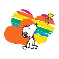 Peanuts Snoopy Hearts Canvas Wall Art by Marmont Hill