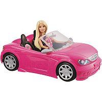 Barbie Blonde Barbie Doll & Convertible Car Set