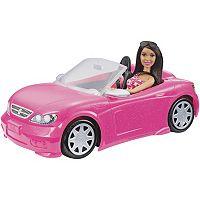 Barbie Brunette Barbie Doll & Convertible Car Set