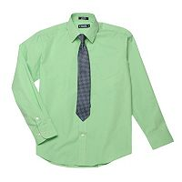 Boys 4-20 Chaps Dress Shirt & Tie Set