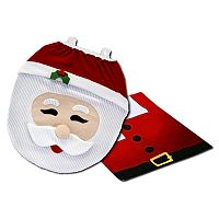 Totes Santa Toilet Seat Cover Set