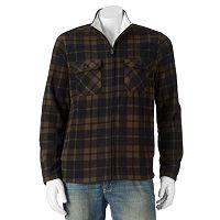 Big & Tall Croft & Barrow® Classic-Fit Plaid Arctic Fleece Jacket