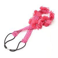 Girls 4-16 Flower Crochet Headwrap