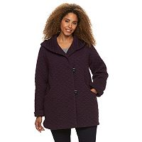 Plus Size Gallery Hooded Quilted Fleece Jacket