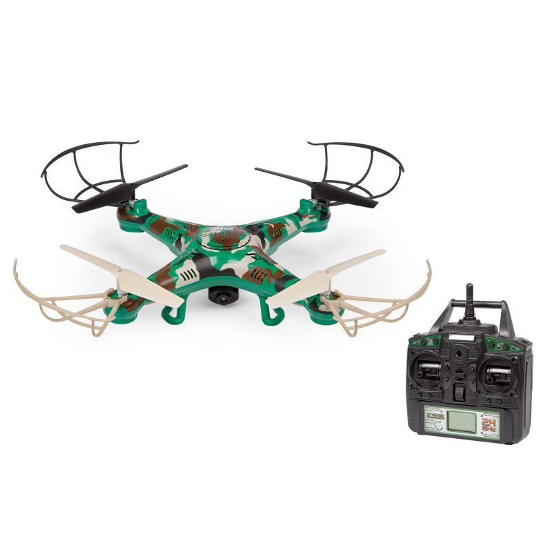 World Tech Toys Striker Camouflage Remote Control Quadcopter Spy Drone, Multicolor thumbnail